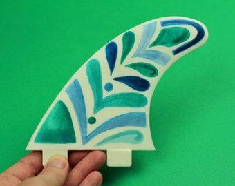 Mermaid fin - Hand painted surfboard fins - the perfect beach house decor