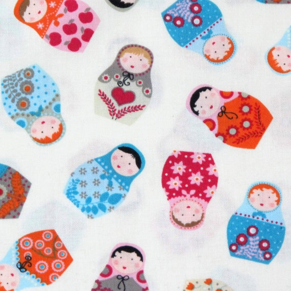SALE 100/% Cotton Fabric Russian Dolls Flowers Floral Timeless Treasures