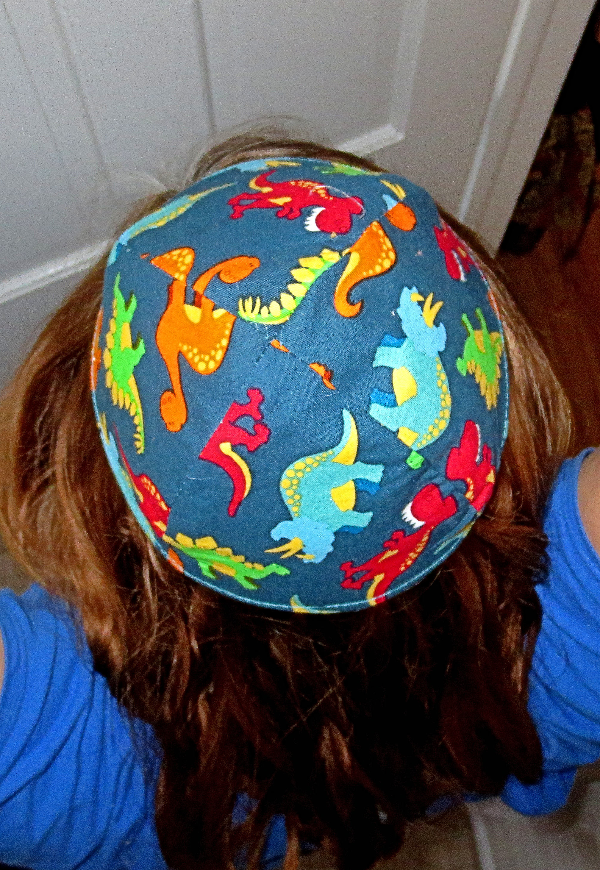 Dinosaurs kippah or yarmulke toddler or regular sizes