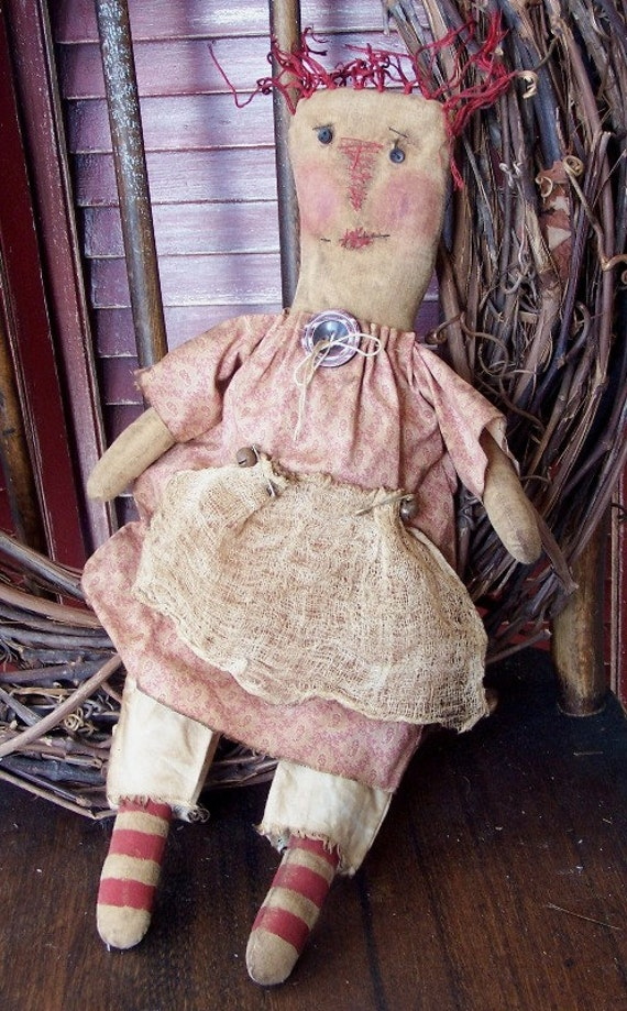 PRIM RAGGEDY ANGEL ANNIE SITTER  ~MAILED  PATTERN  ~ QUICK AND EASY EVERYDAY