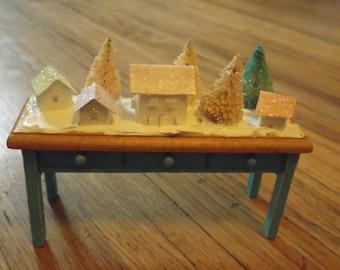 micro mini glitter village