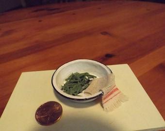 Miniature green bean set