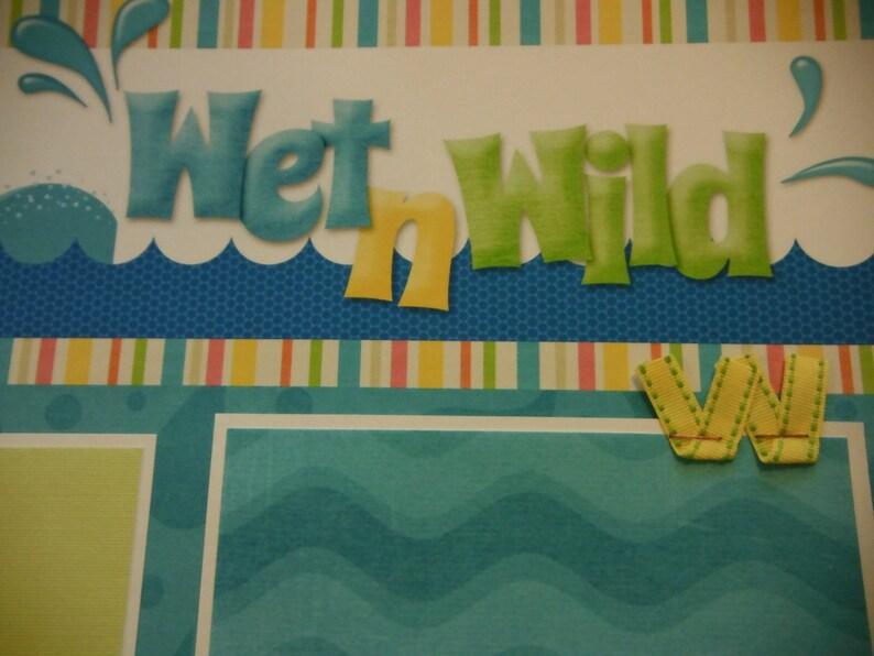Wet n/' Wild Premade 12x12 Scrapbook Pages for Lauren Siegfried