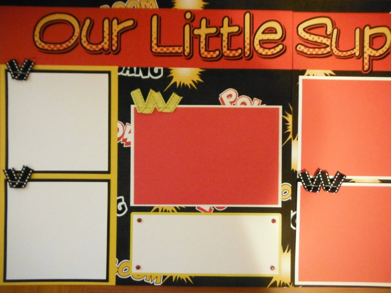 Our Little Super Hero BOY  12x12 Scrapbook Pages for your FAMILY  Boy Halloween
