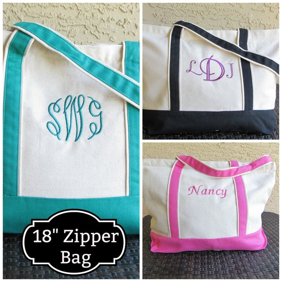 "Christmas Tote Bag Christmas Gift Personalized Tote Bag 18""  Personalized Tote Bag Embroidered Tote Bag Bridesmaid Tote Bag  Teachers Tote"
