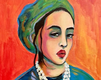 Portrait of Octavia - Original Portrait Painting