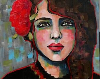 Portrait of Aria - Original Portrait Painting