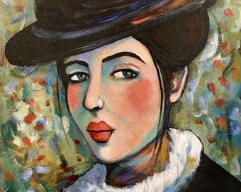 Portrait of Aveline - Original Portrait Painting