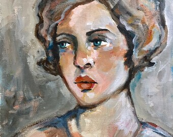 Portrait of Irina - Original Portrait Painting