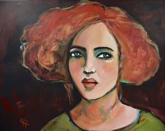 Portrait of Emersyn - Original Portrait Painting