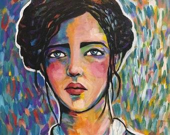 Portrait of Lucienne - Original Portrait Painting