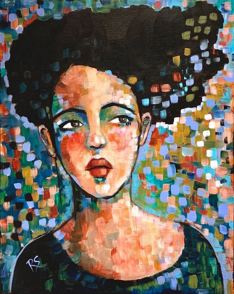 Portrait of Whitney  Original 16 x 20 inch painting image 0