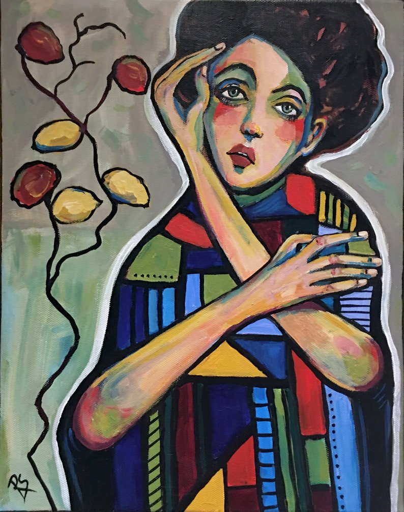The Girl from Vienna  Original Portrait Painting image 0