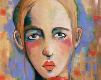 Portrait of Tova - Original Portrait Painting
