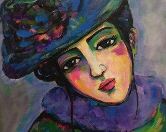 Portrait of Fernande - Original Portrait Painting