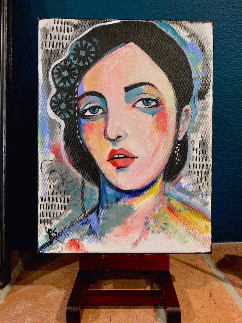 Every Little Thing She Does  9 x 12 inch original portrait image 0
