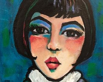Portrait of Celestine - Original Portrait Painting