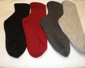 Fleece Socks or Slippers 3 Pair You Pick Colors