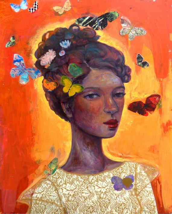 "Butterfly Girl  ""Garden of My Soul"" series"