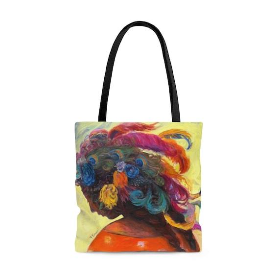 Goddess in Headdress Tote Bag
