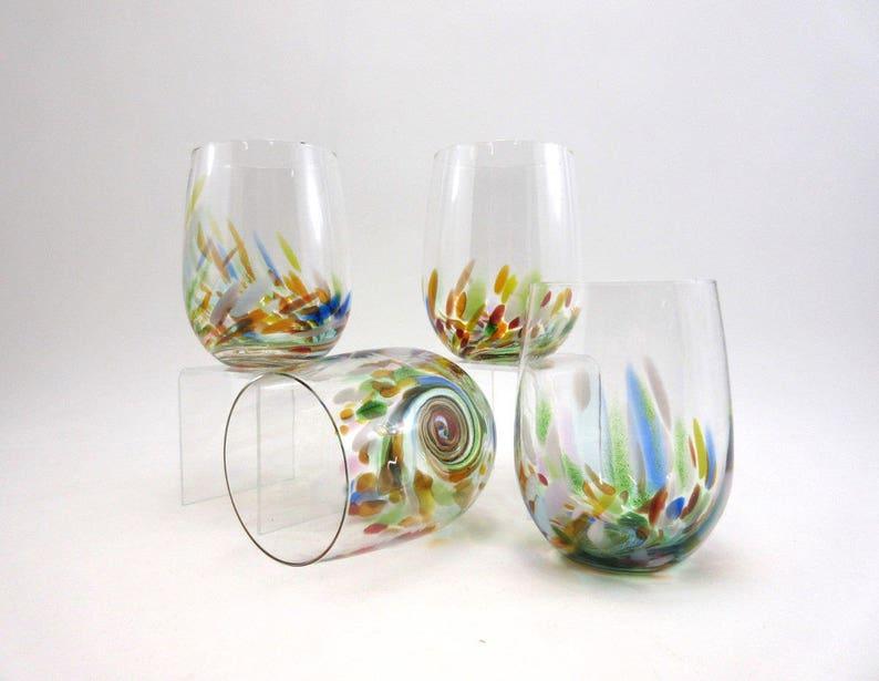 60602adefda Vino Breve Tumblers/Glasses: set of 4 Cocktail Margarita   Etsy