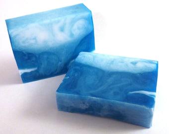 Juniper Breeze Handmade Glycerin Soap Bar Slice - Vegan, SLS Free - Juniper, Cool Air, Frosted Birch