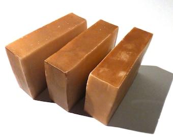 Pumpkin Coconut Handmade Goats Milk Soap Bar Slice