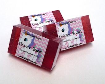 Unicorn Burps Candy Scent Mini GUEST BAR SLS Detergent Free Vegan Glycerin Soap