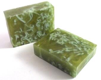 Spiced Pear Handmade Glycerin Soap Bar Slice - Vegan, SLS Free