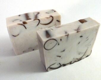 Pumpkin Pecan Waffles Handmade Goats Milk Soap Bar Slice