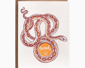 thanks snake card