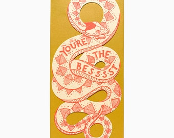you're the best snake card