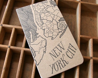 letterpress NEW YORK notepad