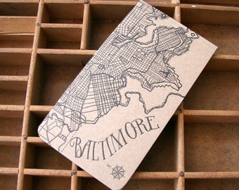 letterpress Baltimore notepad