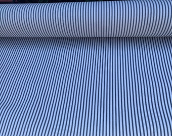 Vintage Cotton Ticking Fabric 36 inch Sewing Blue Chambray Solid 36 x 40