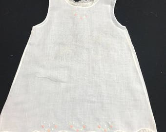 Vintage 1960\u2019s Era Ladies\u2019 Size 32 Sears Pink Nylon Full Slip with Lace Trim /& Adjustable Strap