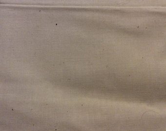 5 1/2 Yards of Vintage Off White Cotton Fabric (Plus a Large Remnant Piece of Same)