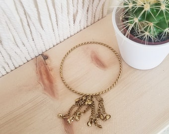 Vintage Indian gold toned boho hippie bracelet