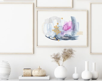 Two Words// Fine Art Giclee Print on Archival Paper// Limited Edition // Art for your office, home, gallery wall, collection