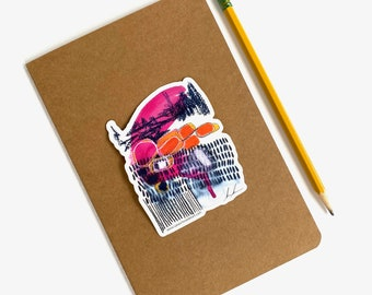 Beautiful Chaos, fine art sticker, vinyl laptop sticker, abstract sticker for teens, waterproof sticker hydro flask, decal, gift under 10