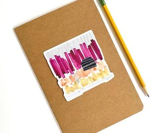 Sangria, fine art sticker, vinyl laptop sticker, abstract sticker for teens, waterproof sticker hydro flask, decal, gift under 10