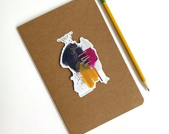 Mind Body Spirit/ Sara Schroeder abstract art vinyl sticker, for laptop aesthetic, hydro flask sticker, under 5 gift for teens, art decal
