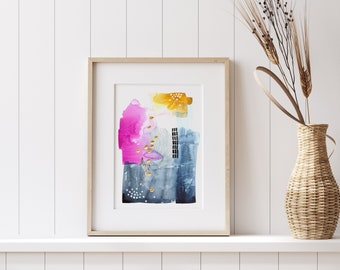 Remember// Sara Schroeder // Fine Art Limited Edition Print// Wall Art // Gallery Collection// Painting Series// Abstract Art// Beach Art
