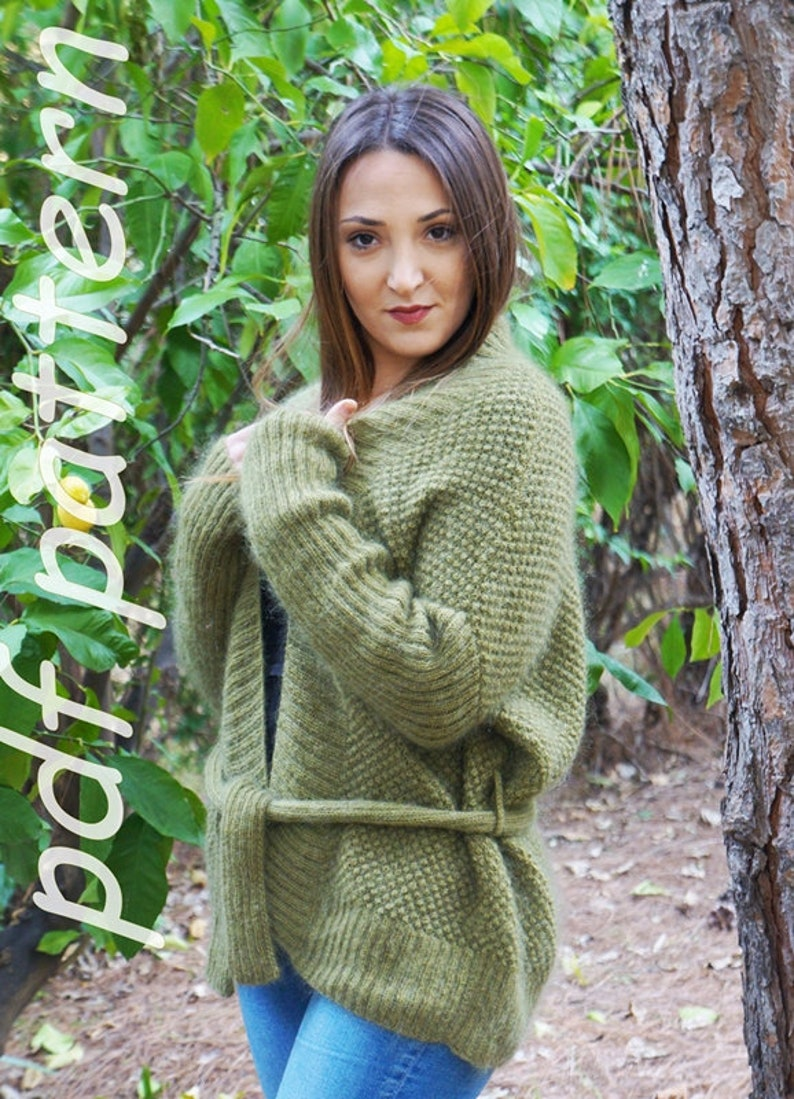 PDF knitting pattern knitted cardigan jacket knitted  6b781818d2