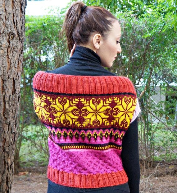 Burst Of Colors Vest Pdf Patternknitting Pattern Vest Etsy