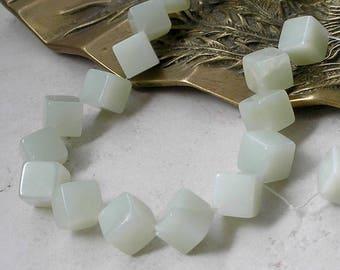 New Jade Beads 10 mm Cube Cross Drilled Aventurine For Beaded Jewelry Making Metaphysical Healing Stone