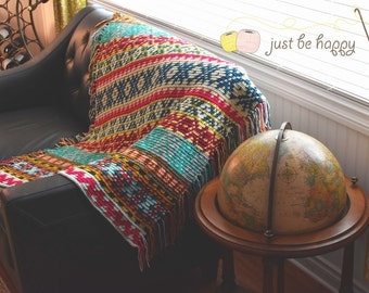 Instant Download, Sampler Blanket Crochet PATTERN