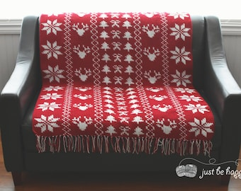 Instant Download, Christmas Sampler Blanket Crochet PATTERN