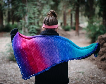 Instant Download, Gradient Scarf Crochet Pattern