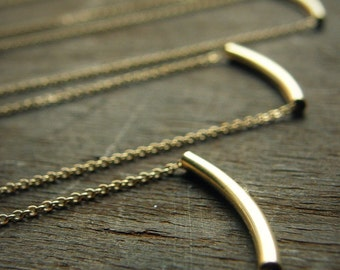 The Original Golden Bar Necklace -Very Elegant and Delicate Necklace - By SimaG
